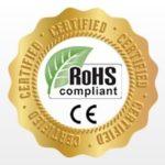 Produto com selo de qualidade ROHS e CE