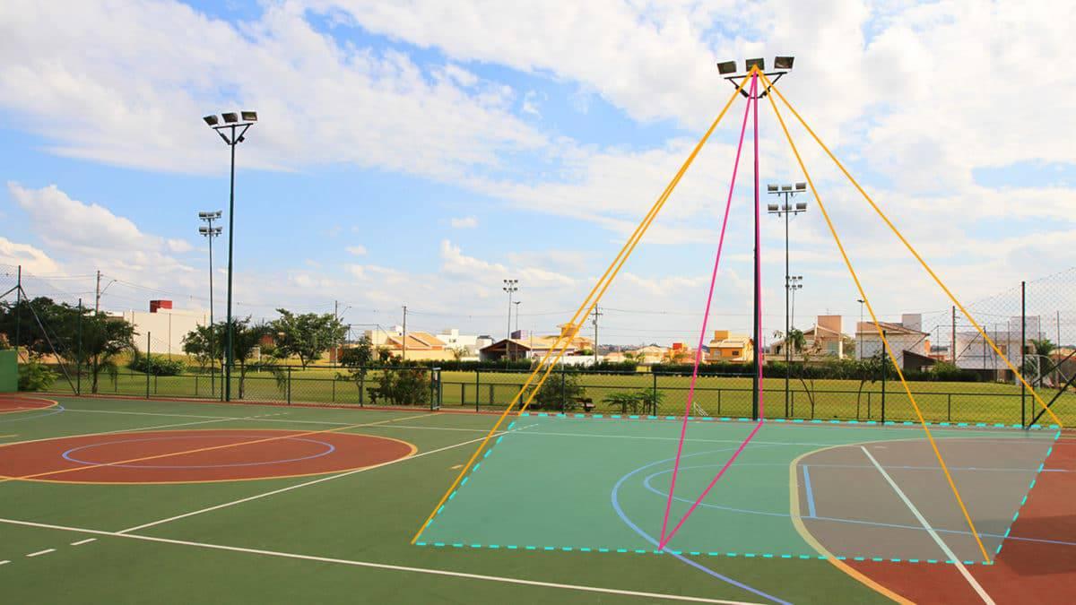 Altura Ideal do Poste Para Iluminar Quadras Esportivas