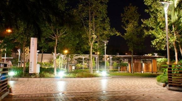 Refletor de LED em Praças