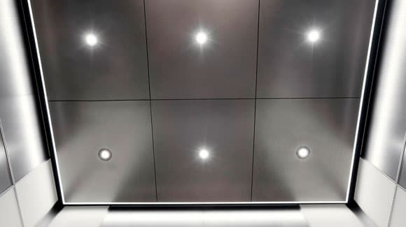 Elevador com Painel de LED Redondo Slim