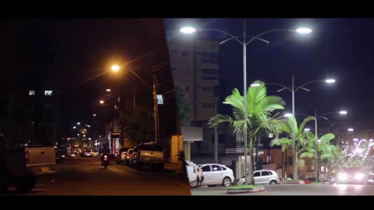 Boa Iluminação com a Luminária Pública de LED trás mais segurança.