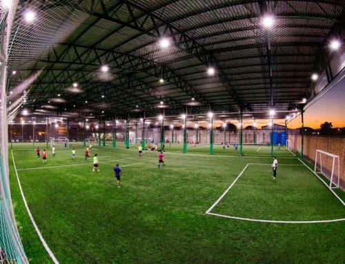 Aplicação do Refletor de LED em Campos de Futebol